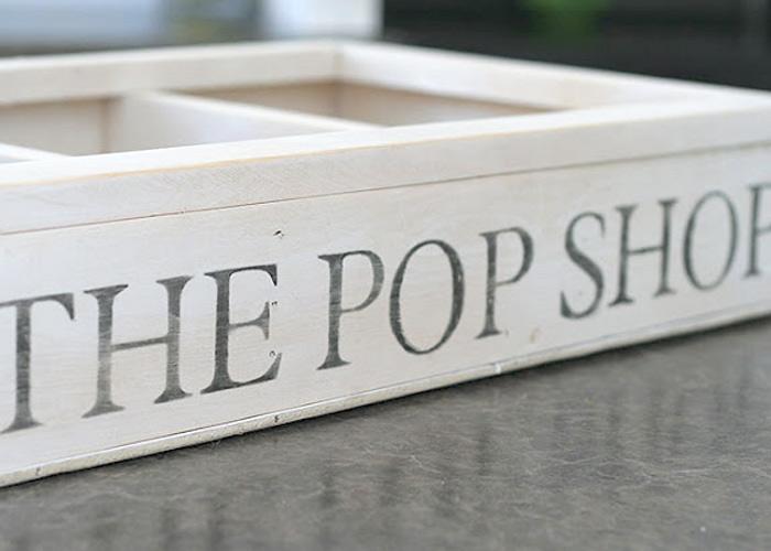 The Pop Shop Vintage Crate DIY