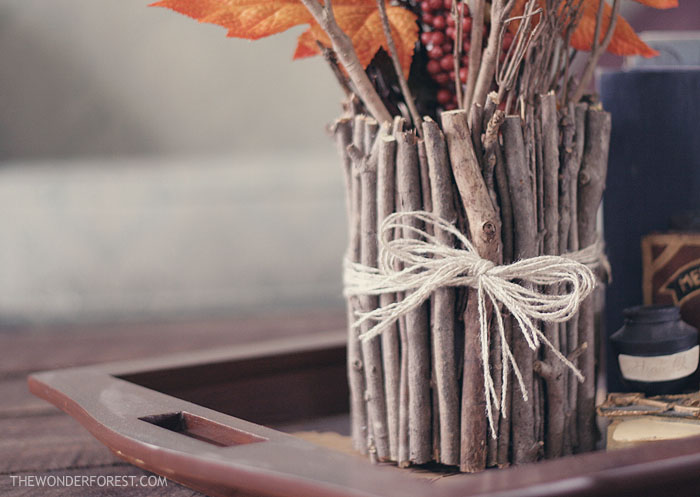 Make a vase out of sticks!  Tutorial time!