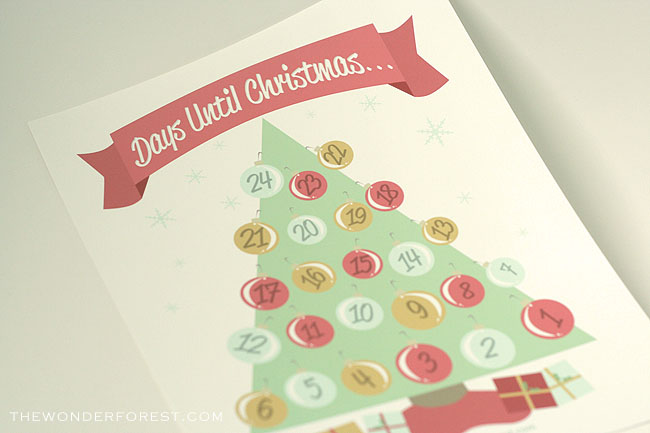 Free Printable Christmas Countdown Calendar