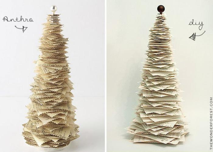 DIY Printed Paper Pine Tree – Anthropologie Inspired