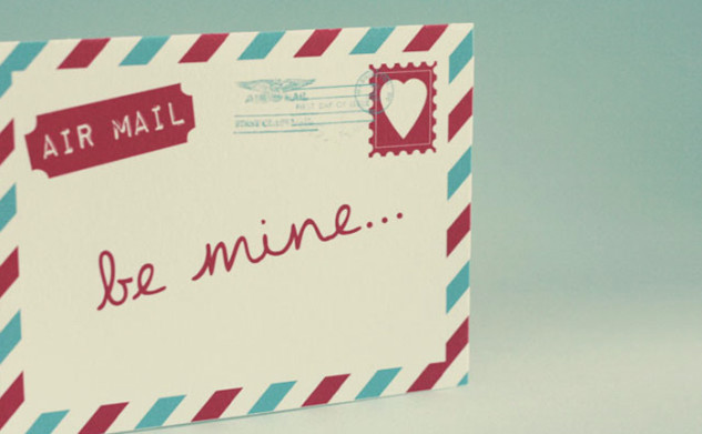 Free Air Mail Valentine Card Printable!