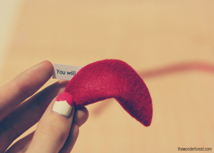 DIY Love-Filled Felt Fortune Cookies!