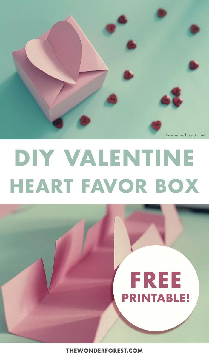 DIY Heart Favor Box and Printable