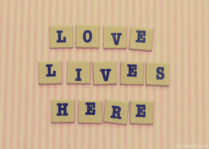 "Free Printable Photo Art! ""Love Lives Here"""