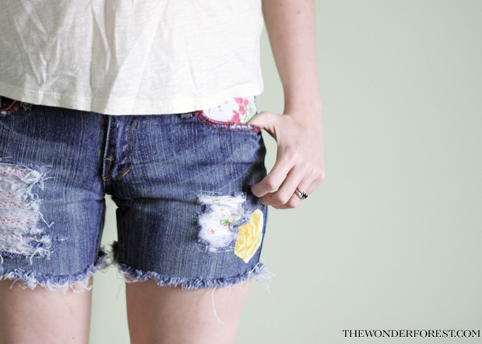 DIY Boho Patchwork Shorts!