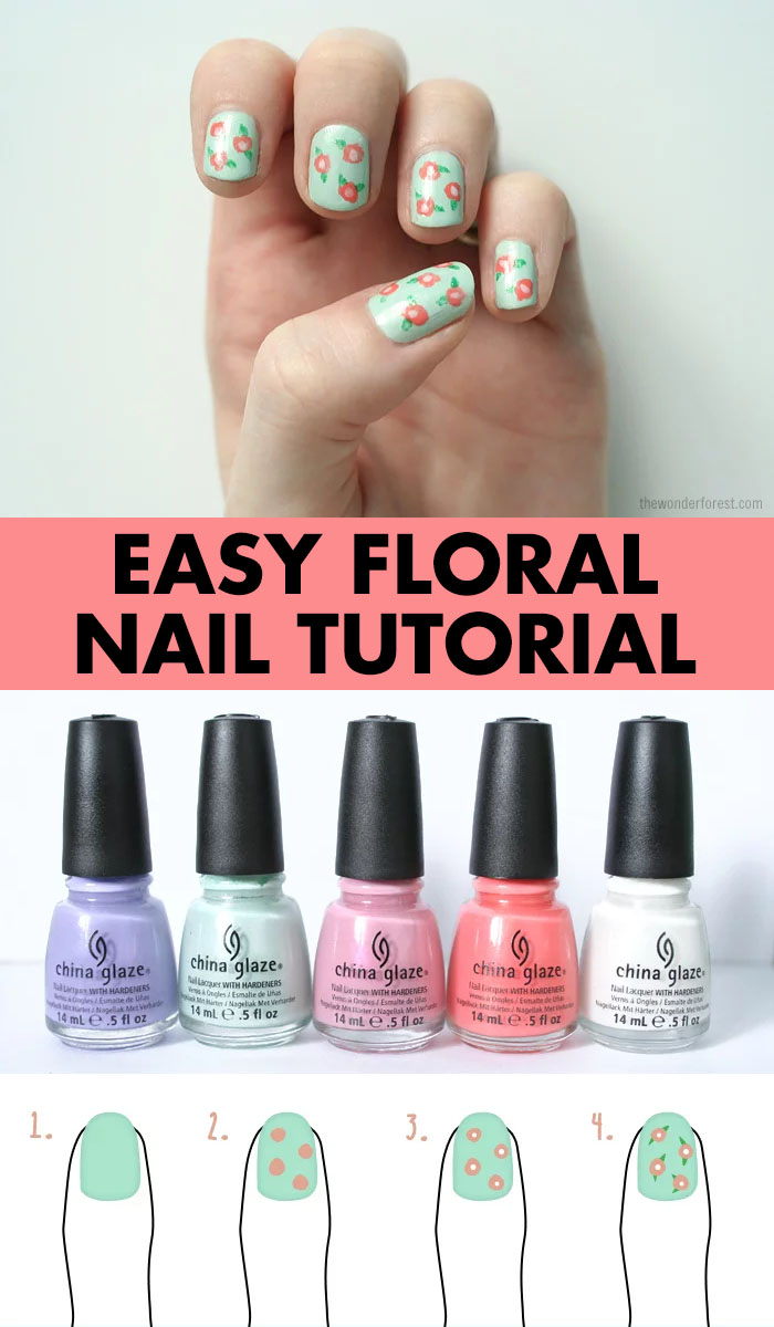 Easy Floral Nail Art Tutorial