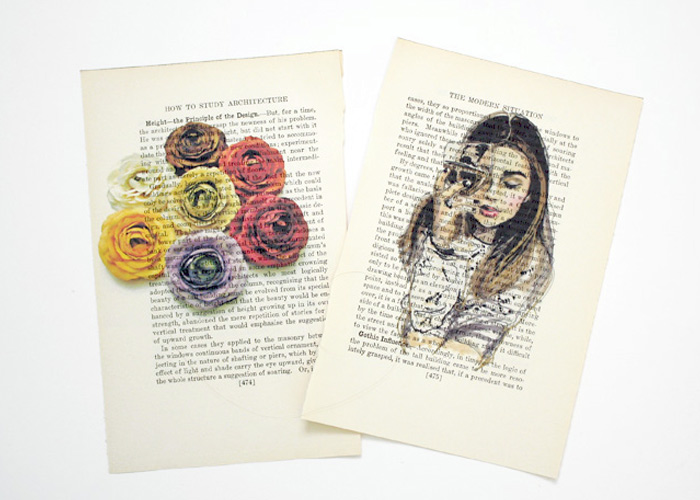 Easy DIY Art: Printing on Book Pages