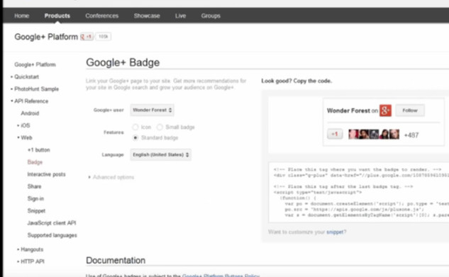 How to add a Google Plus badge to your site, and other updates!