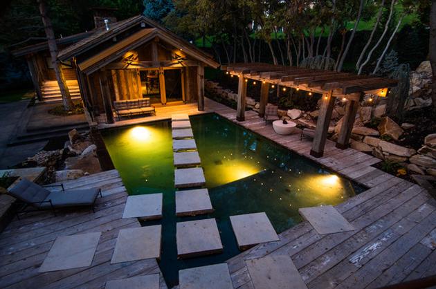 Cabana and pool