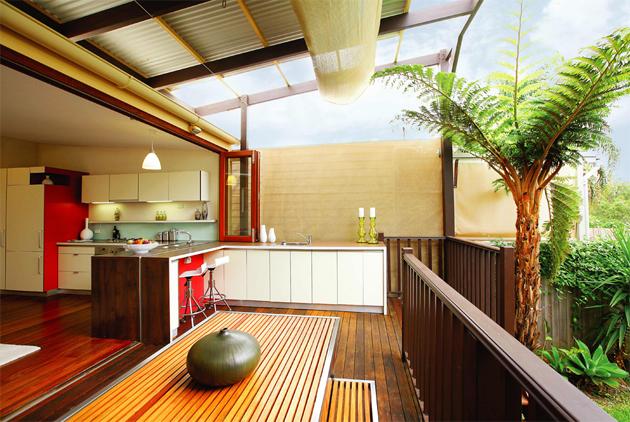 an open concept outdoor space