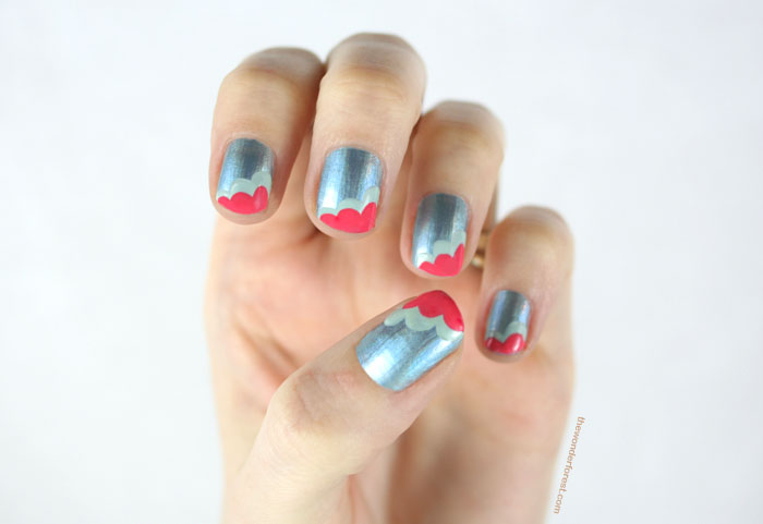 Layered Scallop Nail Art
