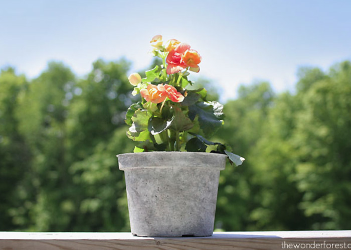 Faux Stone Painted Plastic Flower Pot Tutorial // Recycle Your Flower Pots!