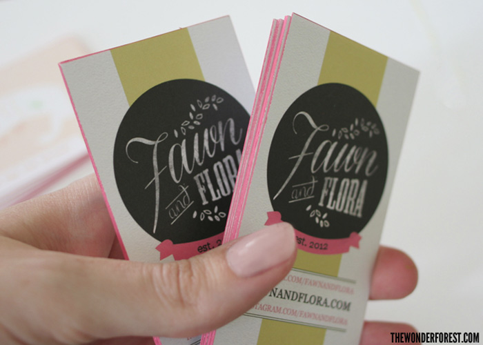 Make Your Own Colored Edge Business Cards!