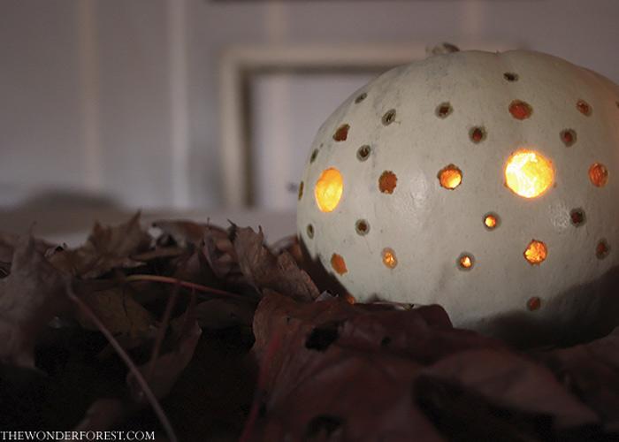 5 Days of Pumpkins: Starry Night Drilled Pumpkins