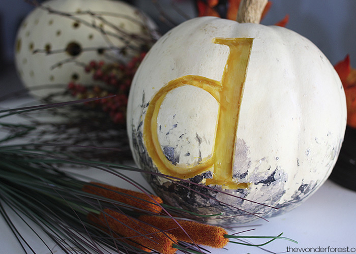 5 Days of Pumpkins: Custom Monogrammed Pumpkin