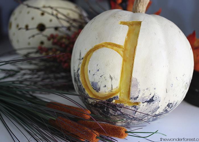 5 Days of Pumpkins: Custom Monogrammed Pumpkin
