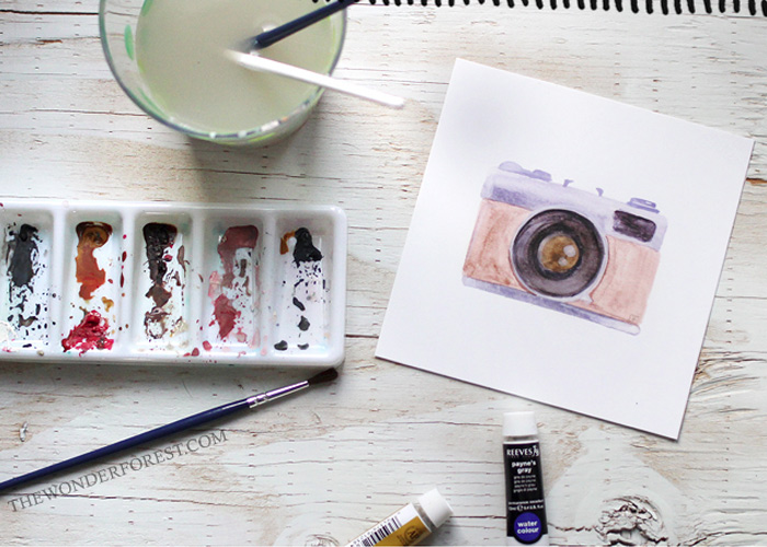 ART: 'Snapshot', a Free Vintage Camera Printable