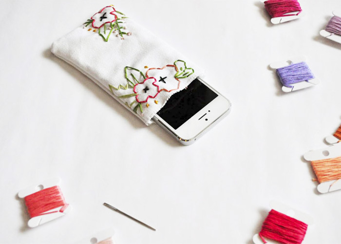 MAKE: Embroidered Floral iPhone Case DIY