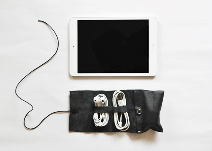 MAKE: DIY Cord Wrap. Keep your cables in one place!