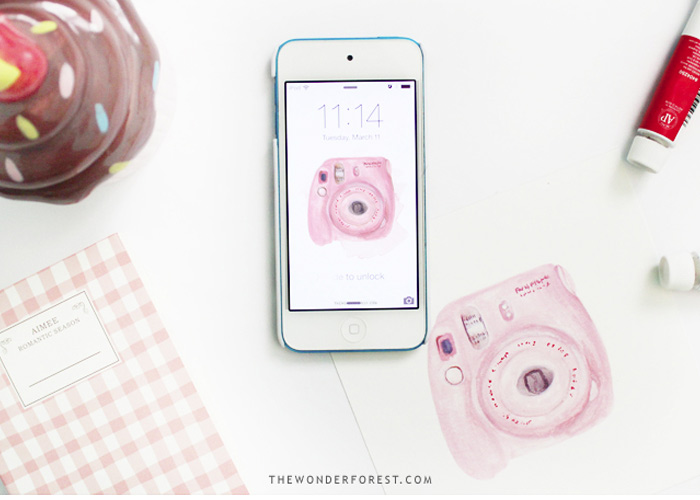 TECH TUESDAY: Instax Mini iPhone Wallpapers… Free!