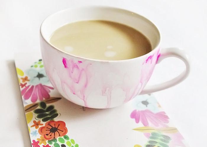 MAKE: DIY Painted Watercolor Mug