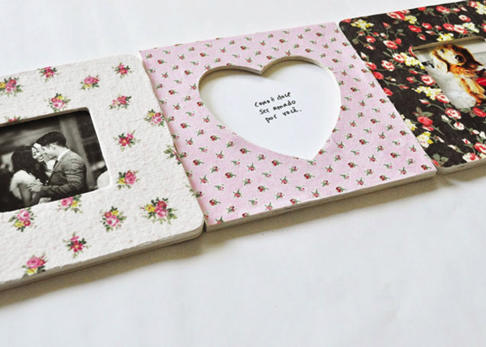Make diy fabric photo frames wonder forest for Fabric picture frames