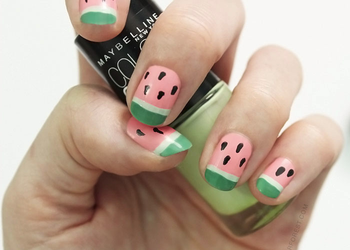 Yummy Watermelon Nails in 4 Simple Steps