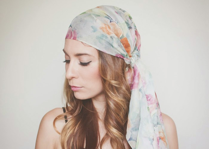 How To Tie a Head Scarf for the Summer: 3 Ways!