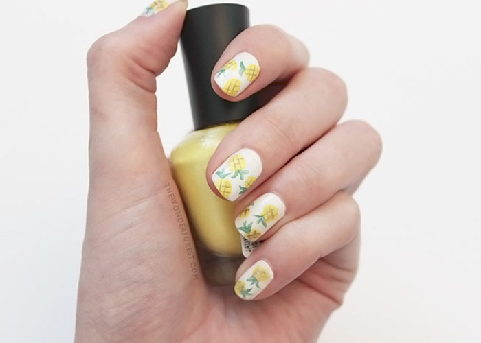 Pineapple Nail Art: Tutorial!