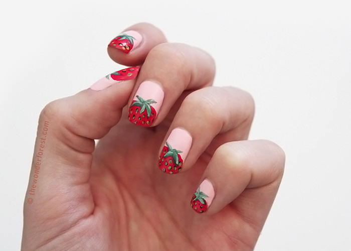 Sweet Strawberry Nail Tutorial