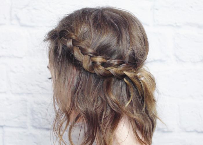 Messy Braided Crown For Shorter Hair Tutorial Wonder Forest