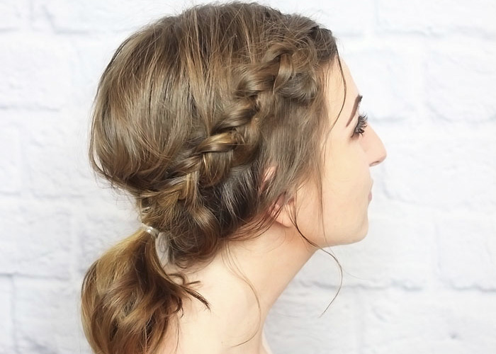 Messy Braided Ponytail for Shorter Hair – Tutorial