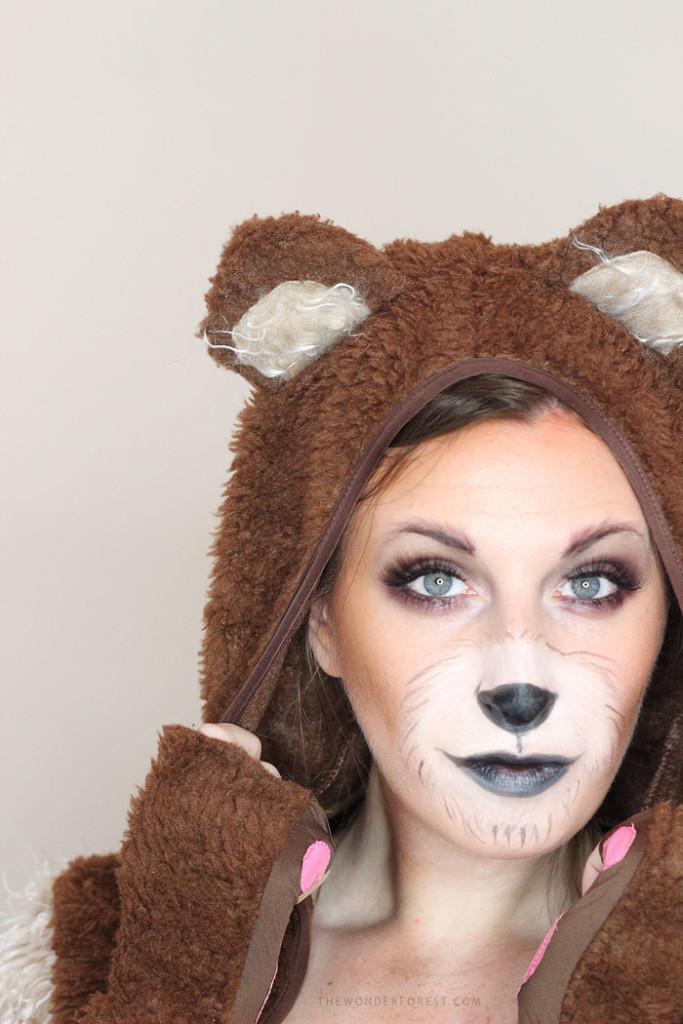 Cute Bear Makeup Tutorial For Halloween Wonder Forest