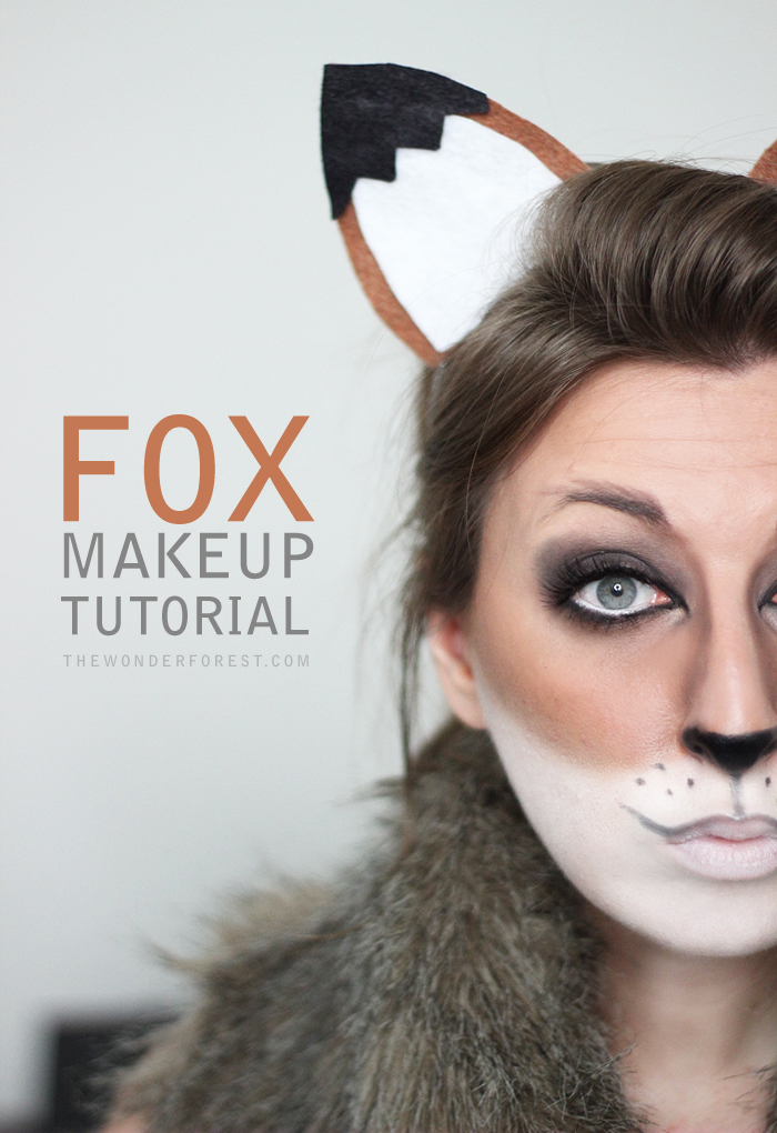 Fox Makeup for Halloween Costume