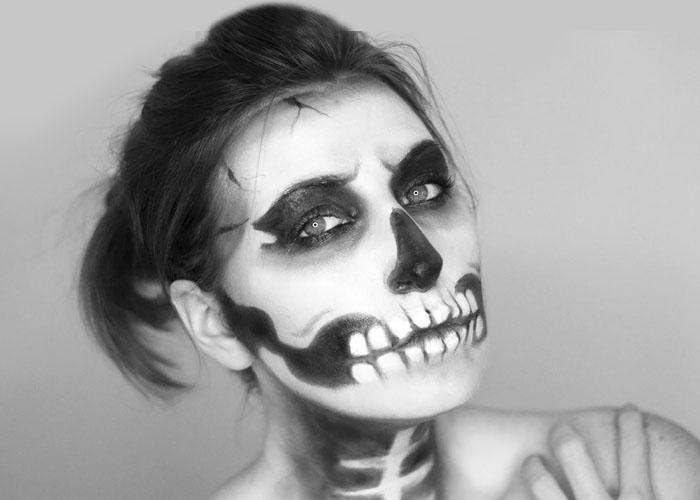 Skeleton / Skull Makeup Tutorial for Halloween
