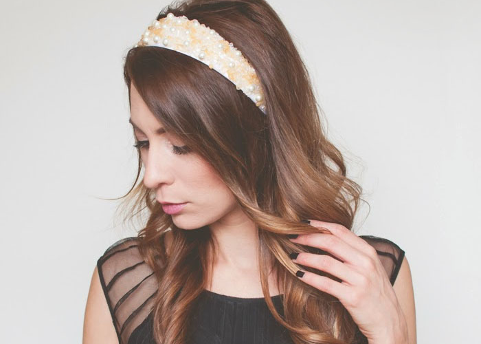 Wardrobe Remix: DIY Jeweled Holiday Headband