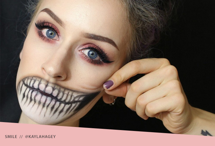 Skull Smile Halloween Makeup