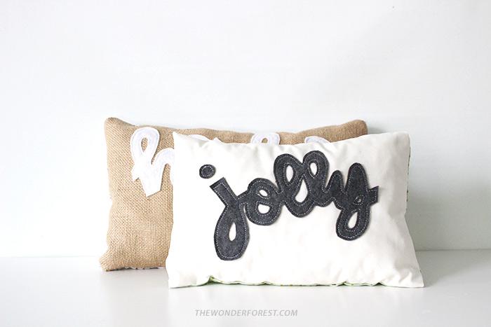 Jolly Script DIY Urlaubskissen