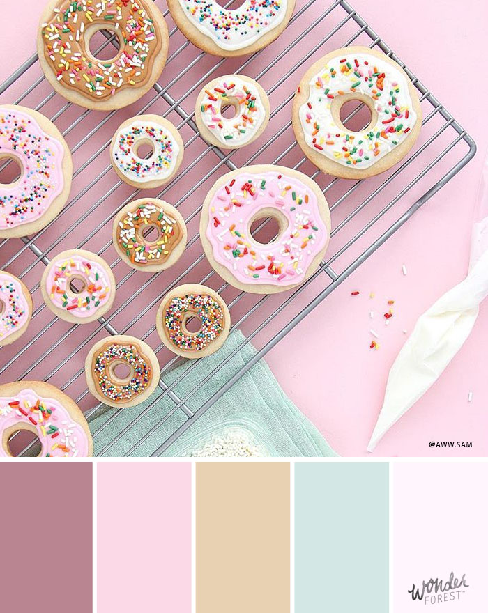 Pastel Pink Color Palette Swatches