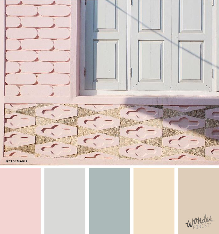 Toned Down Pink Pastel Palette