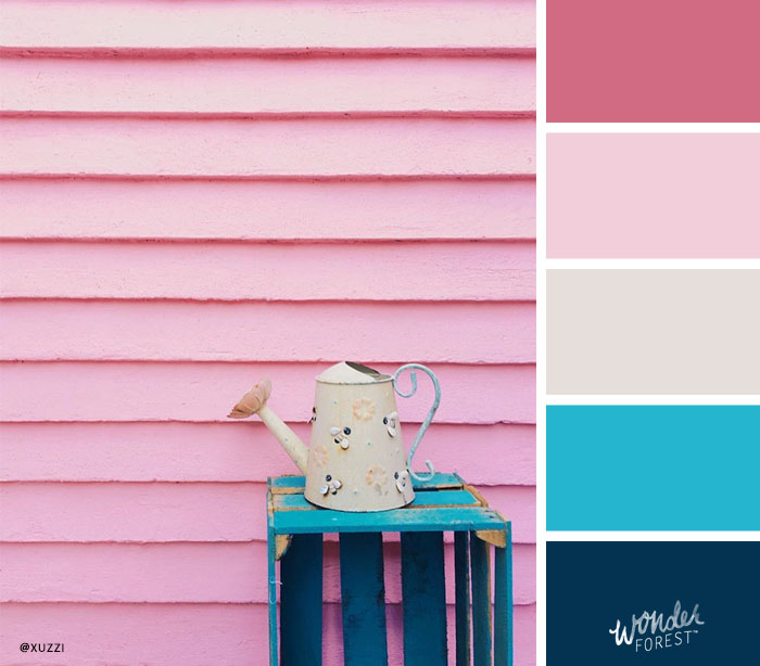 Bright Pinks with Pop of Teal