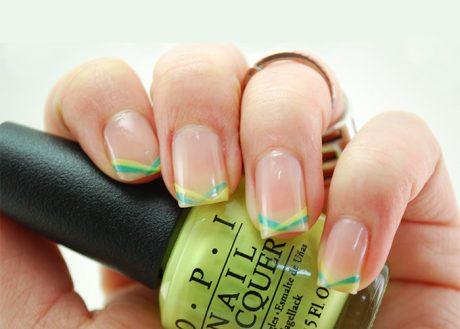 Bright Stripe Nail Tutorial