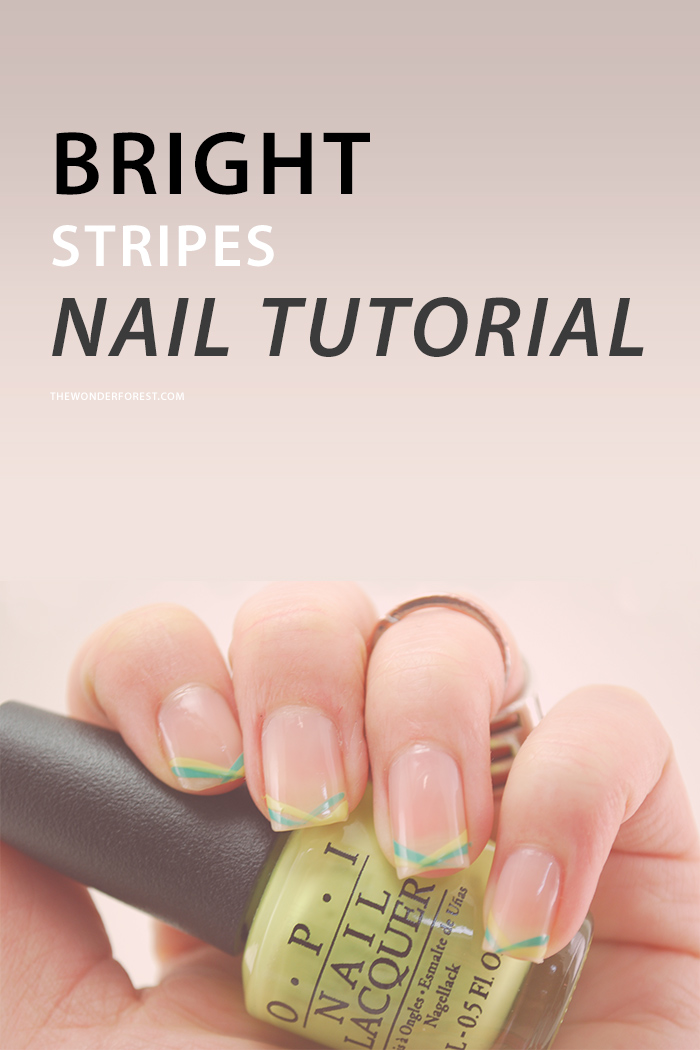 Bright Stripes Nail Tutorial