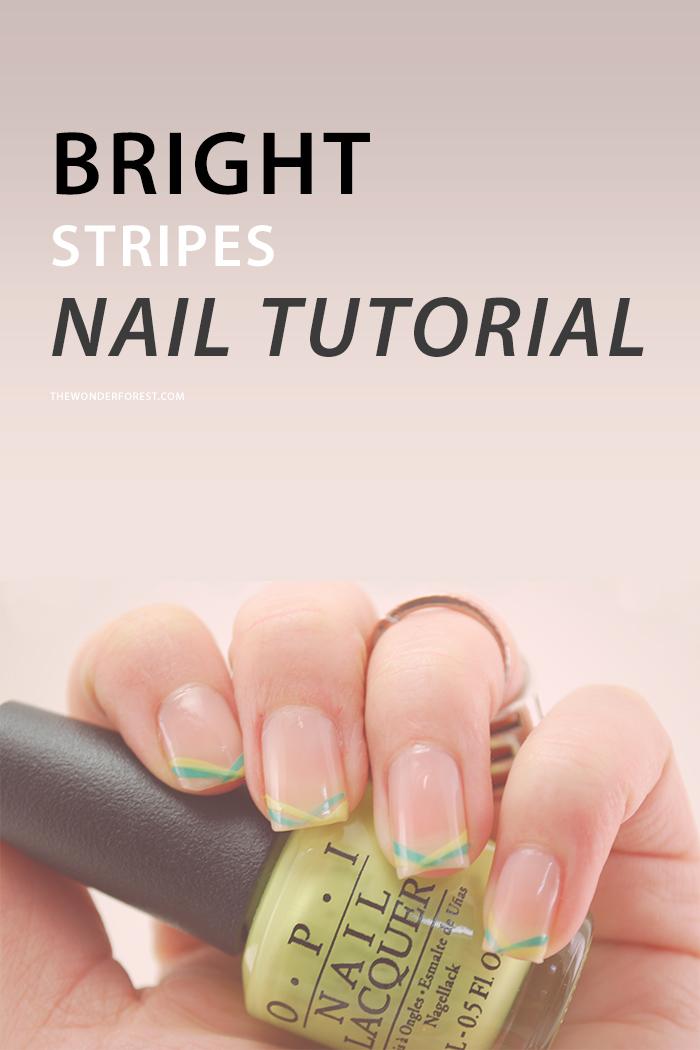 Bright Stripes Nail Tutorial