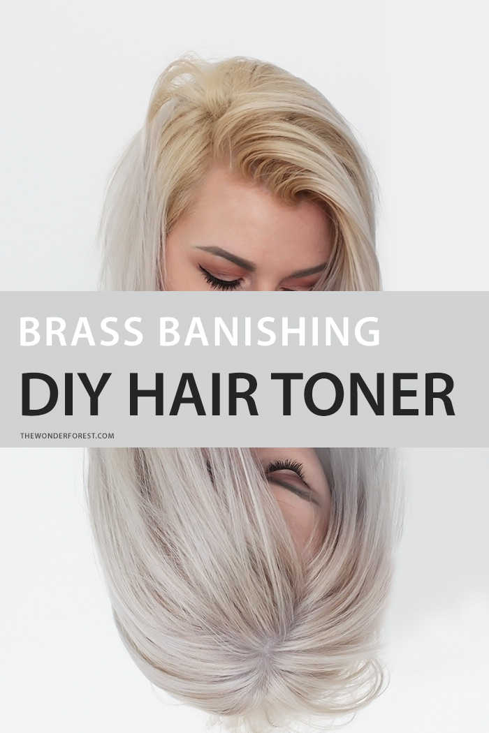 Brass Banishing DIY Hair Toner For Blondes  Wonder Forest