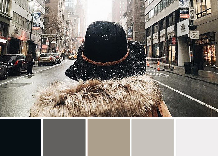 Colours of Instagram: Winter Fashion Palettes