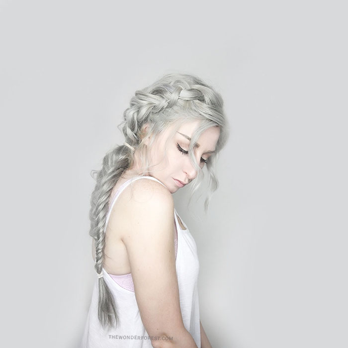 Silver Hair Braid