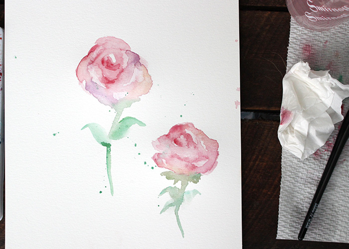 Paint With Me: Watercolor Roses