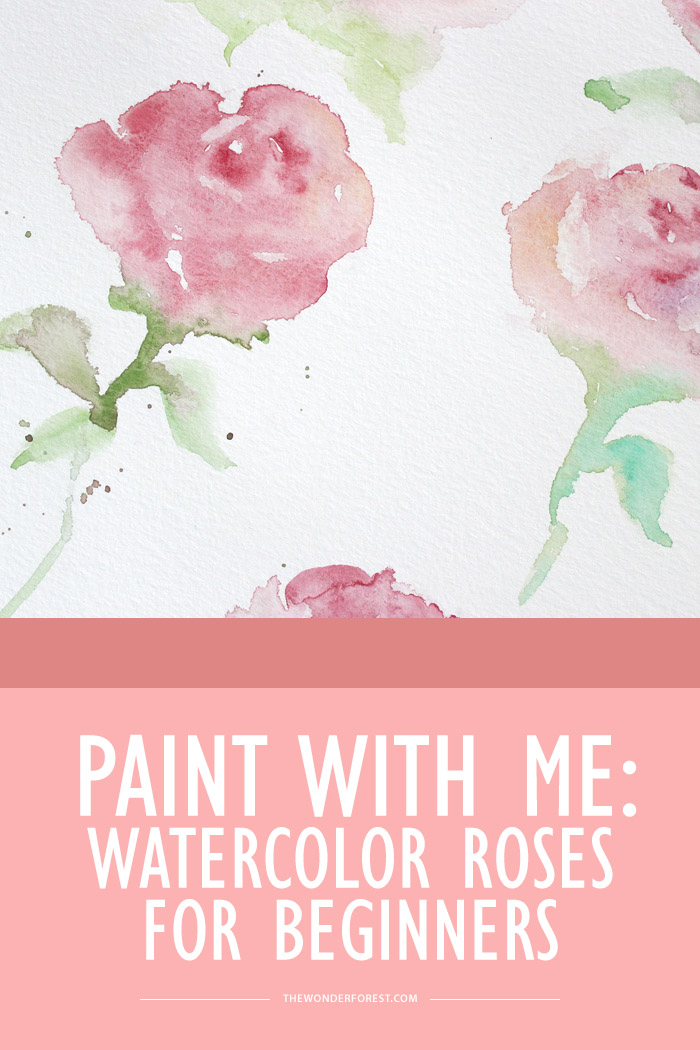 Paint with me watercolor roses wonder forest for How to paint a rose watercolor