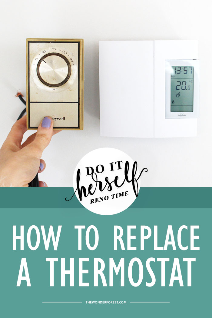 Do It Herself  How To Replace A Thermostat  Analog To